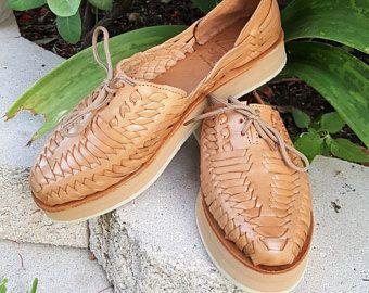 Sandales en cuir pour femmes. Sandales huarache mexicain.
