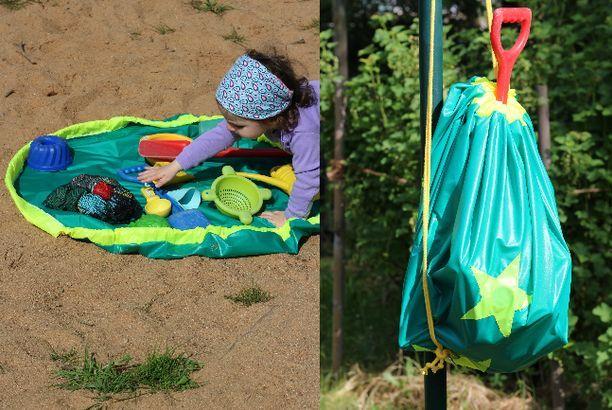 Anleitung: Sandspielzeug-Aufräumsack mit Outdoorstoff nähen