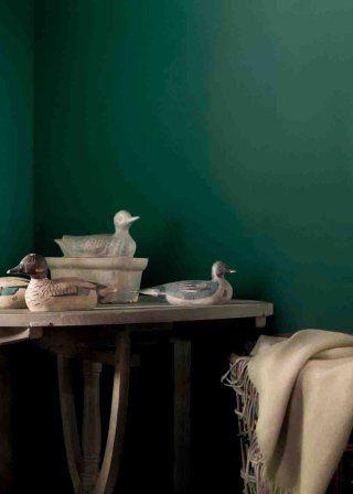 Un Vert Anglais Peinture Tollens Peinture Flamant Vert Fonce