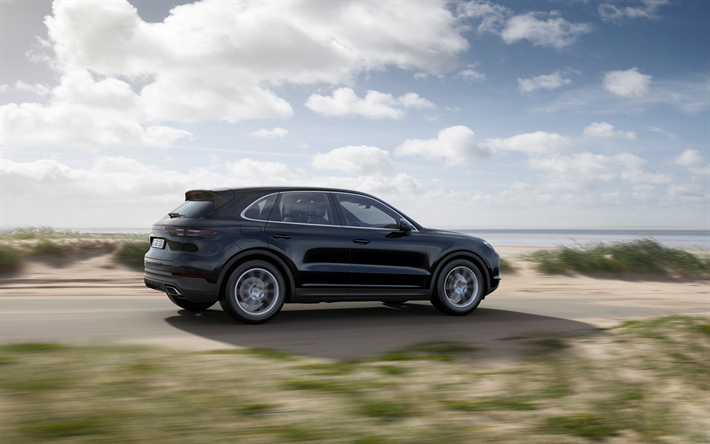 Download Wallpapers Porsche Cayenne 2019 Black Luxury Suv 4k New Black Cayenne German Cars Road Speed Porsche Besthqwallpapers Com Suv De Luxo Porsche Suv