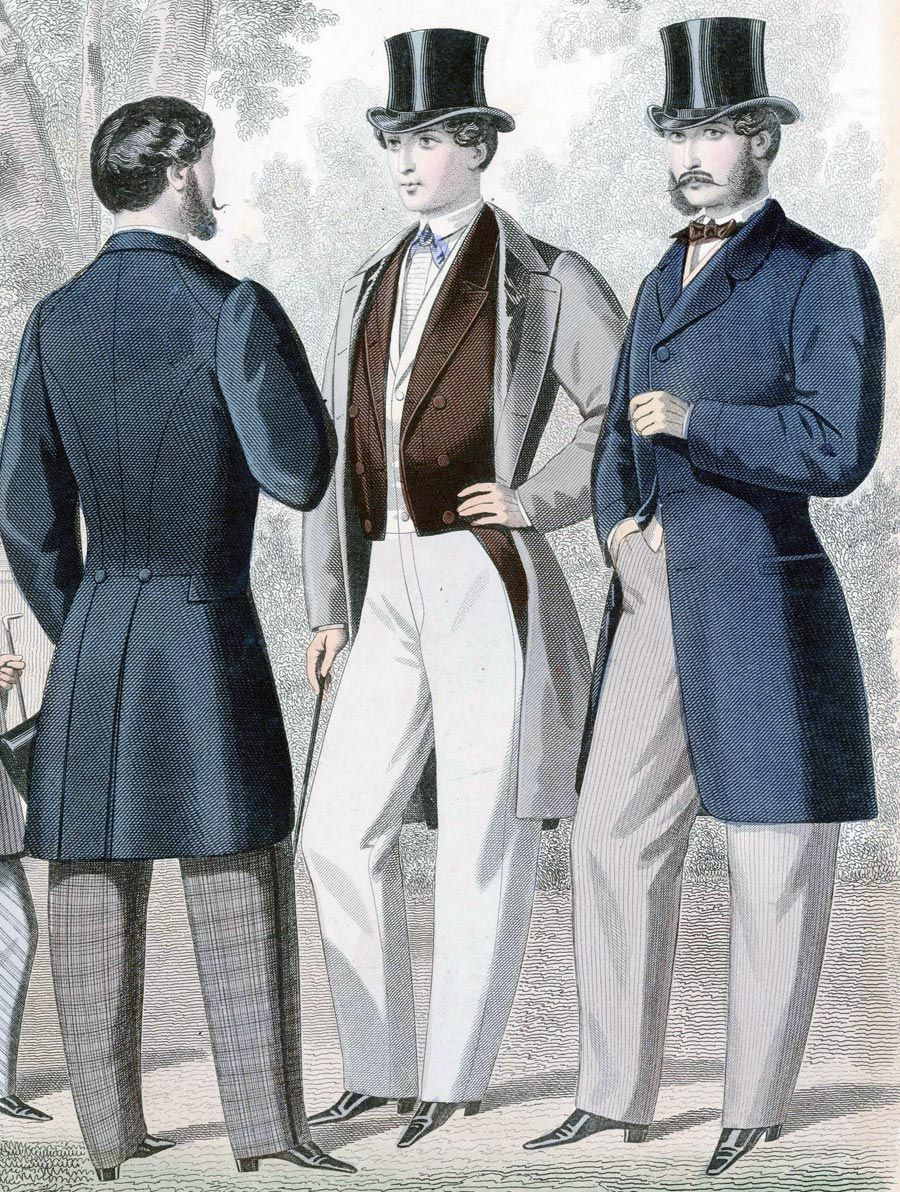b968a58ed59 (1850 - 1870) Full Line of Men s Early Victorian Style Clothing. Everything  a gentleman needs
