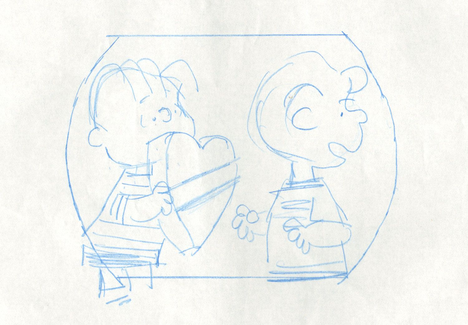 Peanuts Linus Schroeder Original Animation Cel Layout drawing 1975 COA 2* by CharlesScottGallery on Etsy