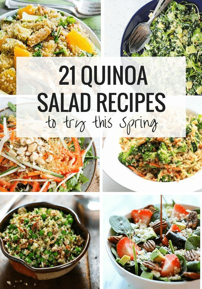 21 Quinoa Salad Recipes To Try This Spring Simply Quinoa Quinoa Salad Recipes Healthy Vegetarian Recipes