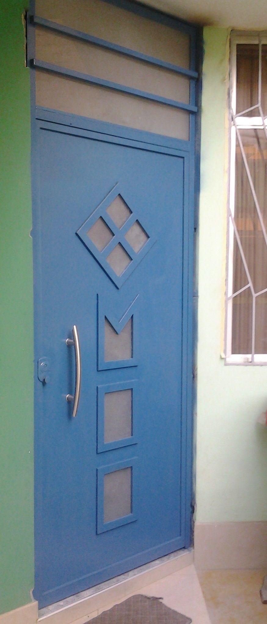 Puerta de fierro, marco tubo 40 x 60 x 2mm, plancha calada 3/32 ...