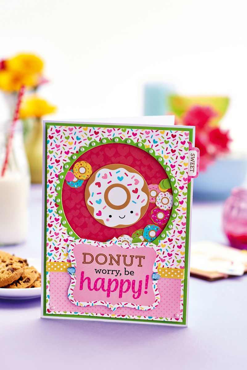 Craft A Sweet Doughnut Shaker Card Greeting To Cheer Up A Friend