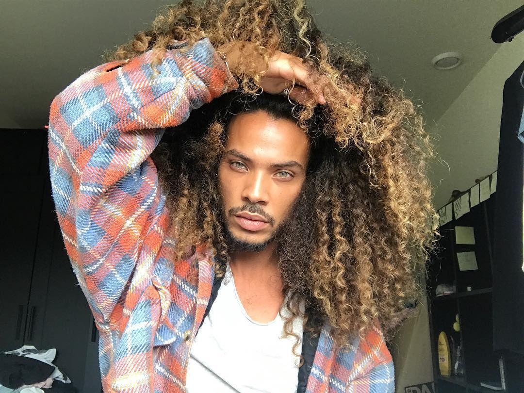 Long Curly Hair For Men Long Curly Hair Men Rizos Long
