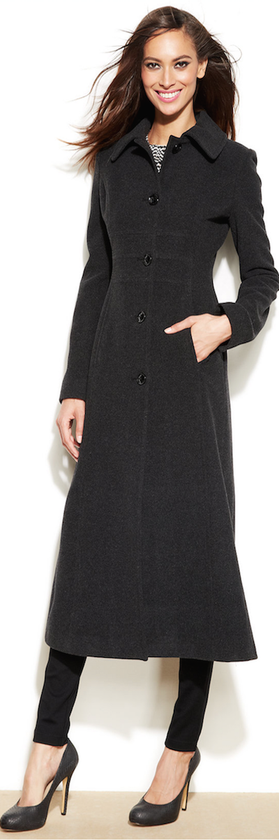 Anne Klein Wool Blend Maxi Walker Coat Outfits Dia Trendy Clothes For Women