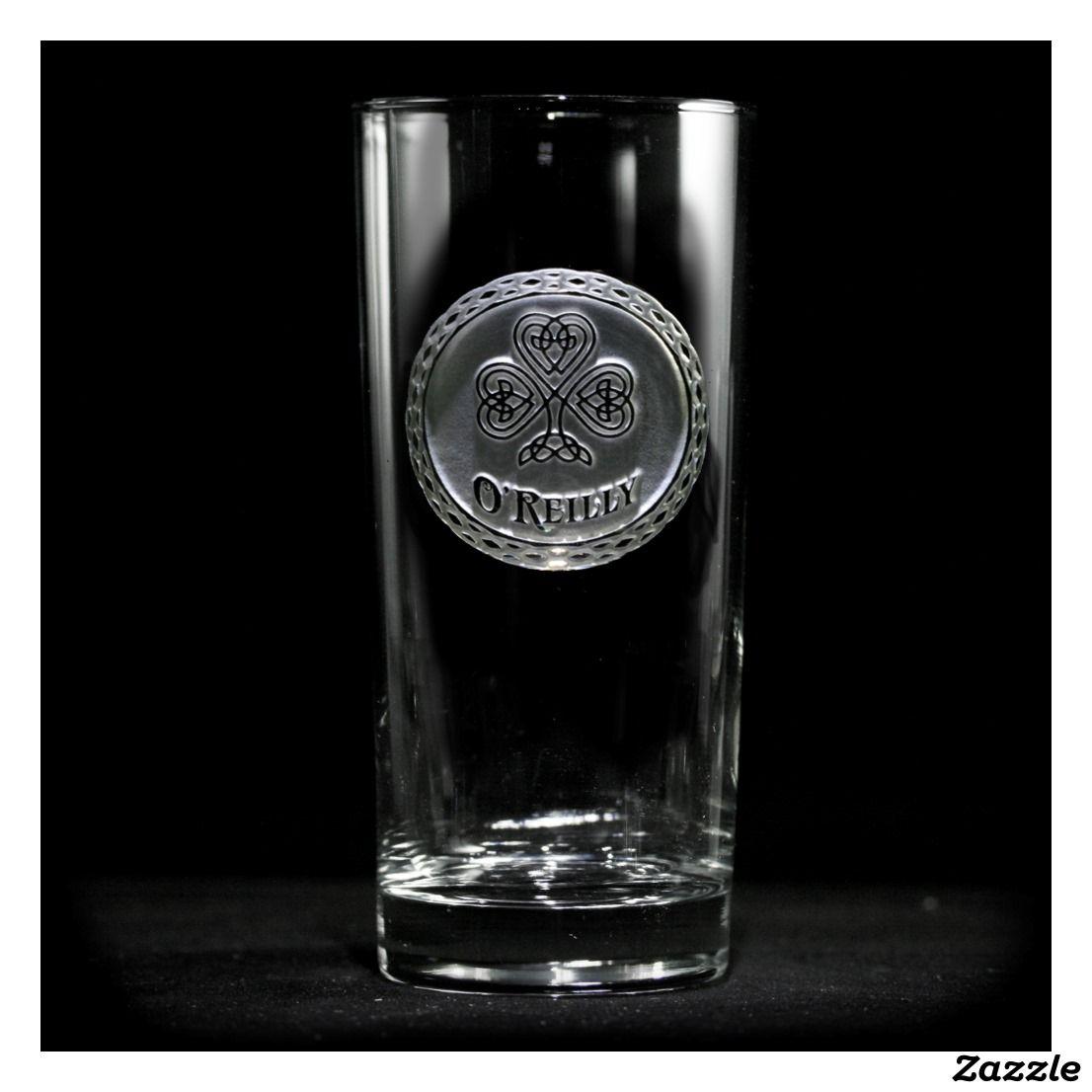 Irish Pride Personalized Cooler Glass