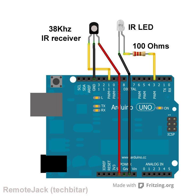 Ir Transmitter And Receiver Arduino Remotejack Arduino Awaits In Ambush To Thwart Unwanted Tv Channel Alfabe Calisma Sayfalari Alfabe