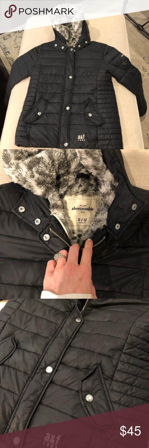 Girls A F Puffer Winter Jacket Winter Jackets Jackets Kids Jacket [ 1740 x 580 Pixel ]