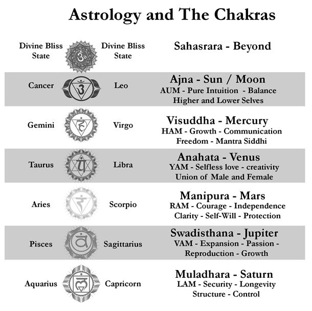 Astrology And The Chakras Chakras Astrology Signs And Chakra
