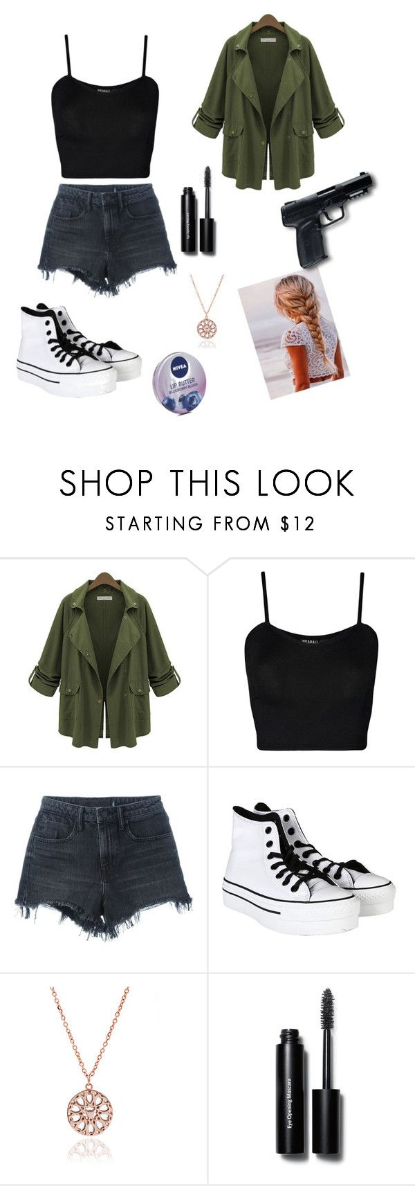 """""""Hunters  outfit!🔪🔫"""" by sophie295 ❤ liked on Polyvore featuring WearAll, Alexander Wang, Converse, All Black, Bobbi Brown Cosmetics, Nivea and supernaturalhunter"""