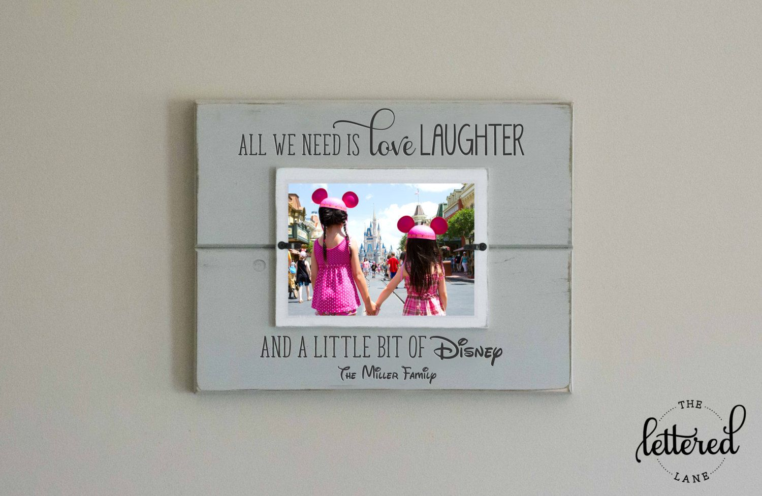 Disney Picture Frame, Personalized Family Frame, Christmas Gift ...