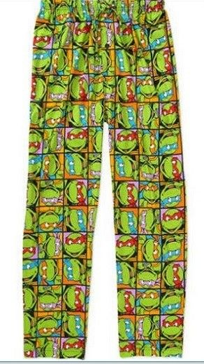 Teenage Mutant Ninja Turtles TMNT Four Brothers Print Mens Loungewear Lounge Pants