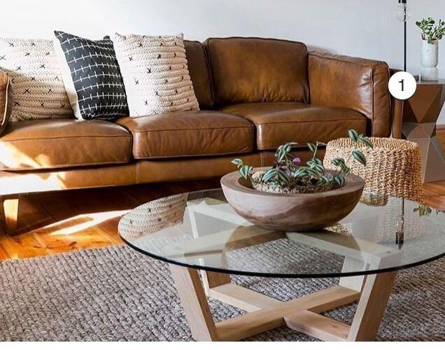 Freedom Brooklyn 3 Seater Sofa In Oxford Tan Freedom Furniture Brown Living Room Decor Leather Sofa