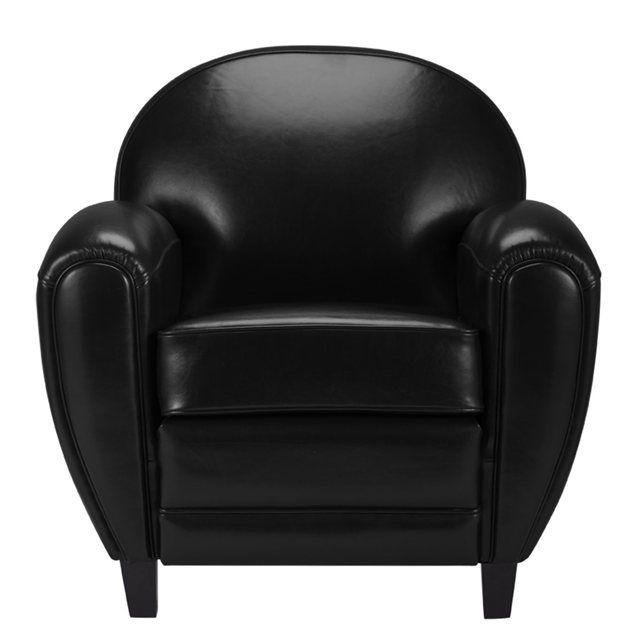 Fauteuil Club cuir noir RENDEZ VOUS DECO prix avis & notation