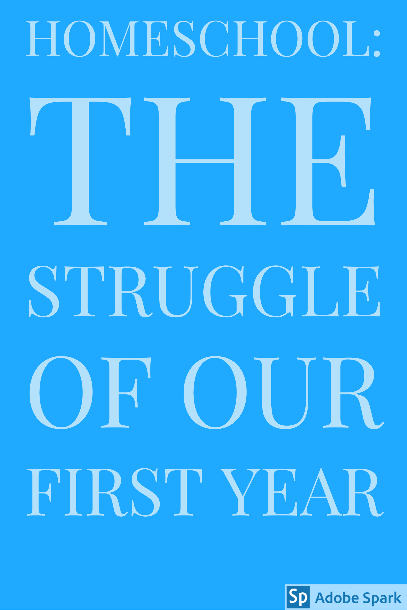Homeschool…The Struggle Our First Year How to start
