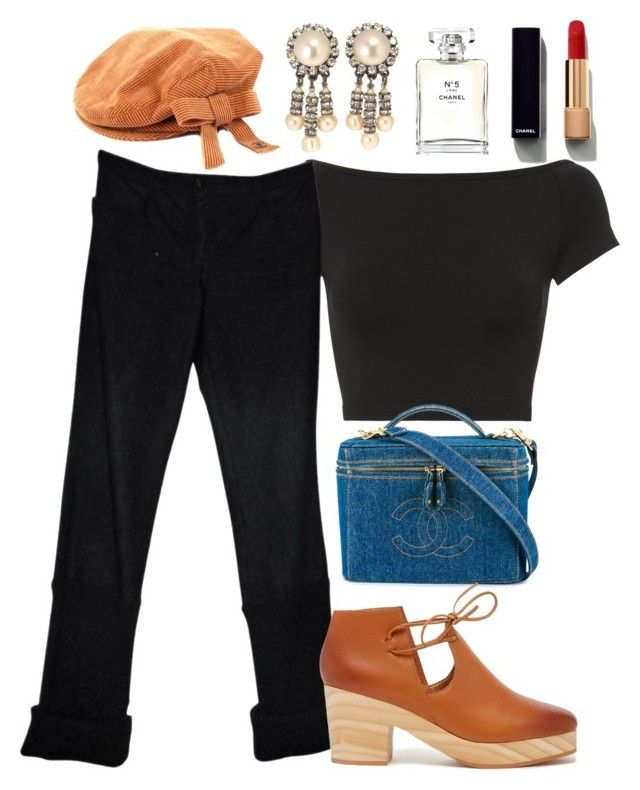 """""""Chanel"""" by busrashin ❤ liked on Polyvore featuring Chanel, Helmut Lang and Kelsi Dagger Brooklyn"""