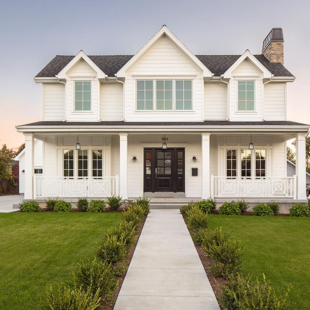 The modern farmhouse style is not only for interiors it takes center stage on the exterior as well the exterior of a home can often get overlooked