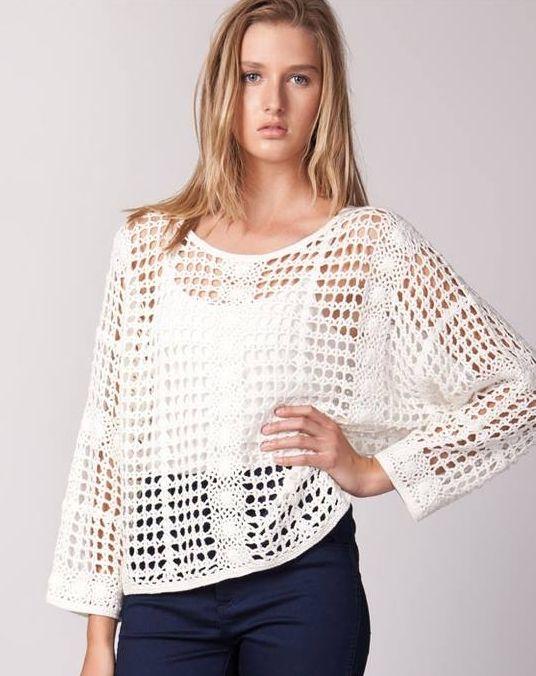 Ideas para el hogar: Tapado y blusa | Ganchillo | Pinterest | Croché ...
