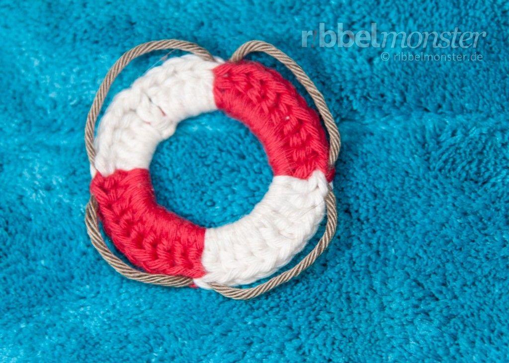 Rettungsring häkeln - Anleitung, Häkelanleitung | Crochet ...