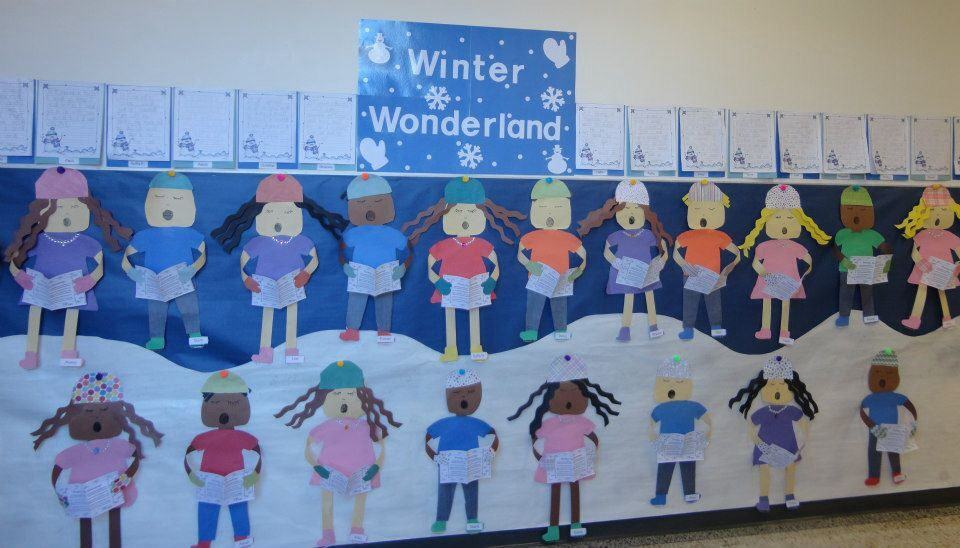 Winter bulletin board kindergarten   Bulletin Board Ideas   Pinterest