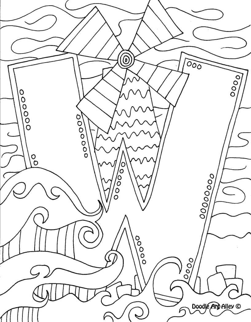Short u coloring pages - Letter Coloring Pages Doodle Art Alley