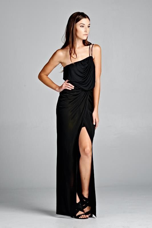 Dolce Black Wrap Dress