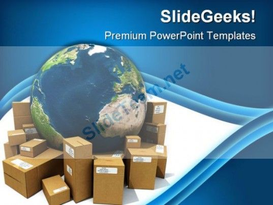 Worldwide Delivery Globe Powerpoint Template 1110 Powerpoint