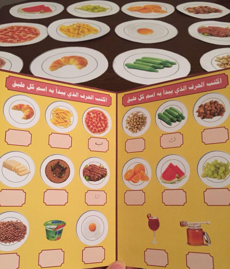قائمة الطعام في نشاط التعرف على الحرف بالدلائل Teaching Methods Arabic Worksheets Learning Arabic