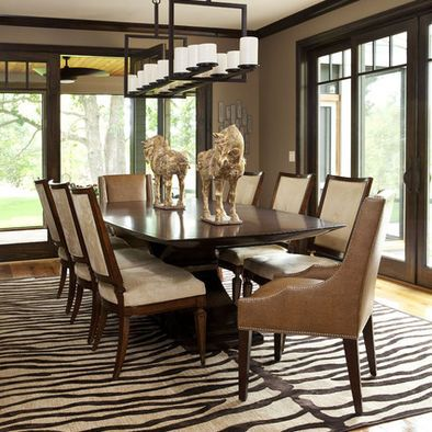 Dark Wood Trim Paint Color In Living Room Transitional Dining RoomsContemporary