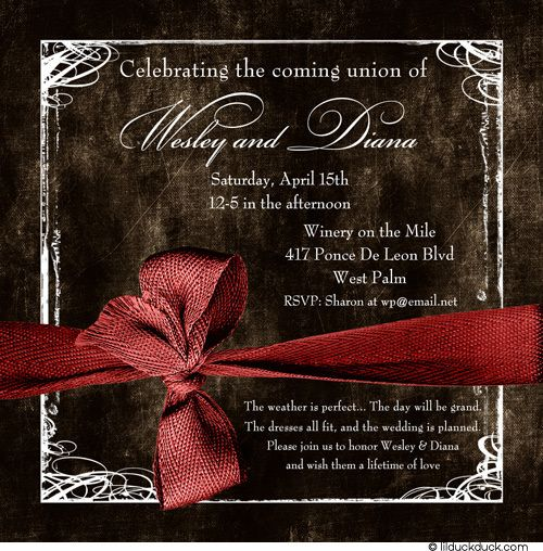 Red Brown Wedding Theme Cute Invites