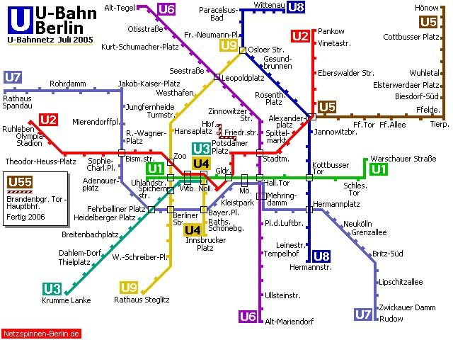 Berlin UBahn Metro Maps Of The World Pinterest - Berlin us bahn map