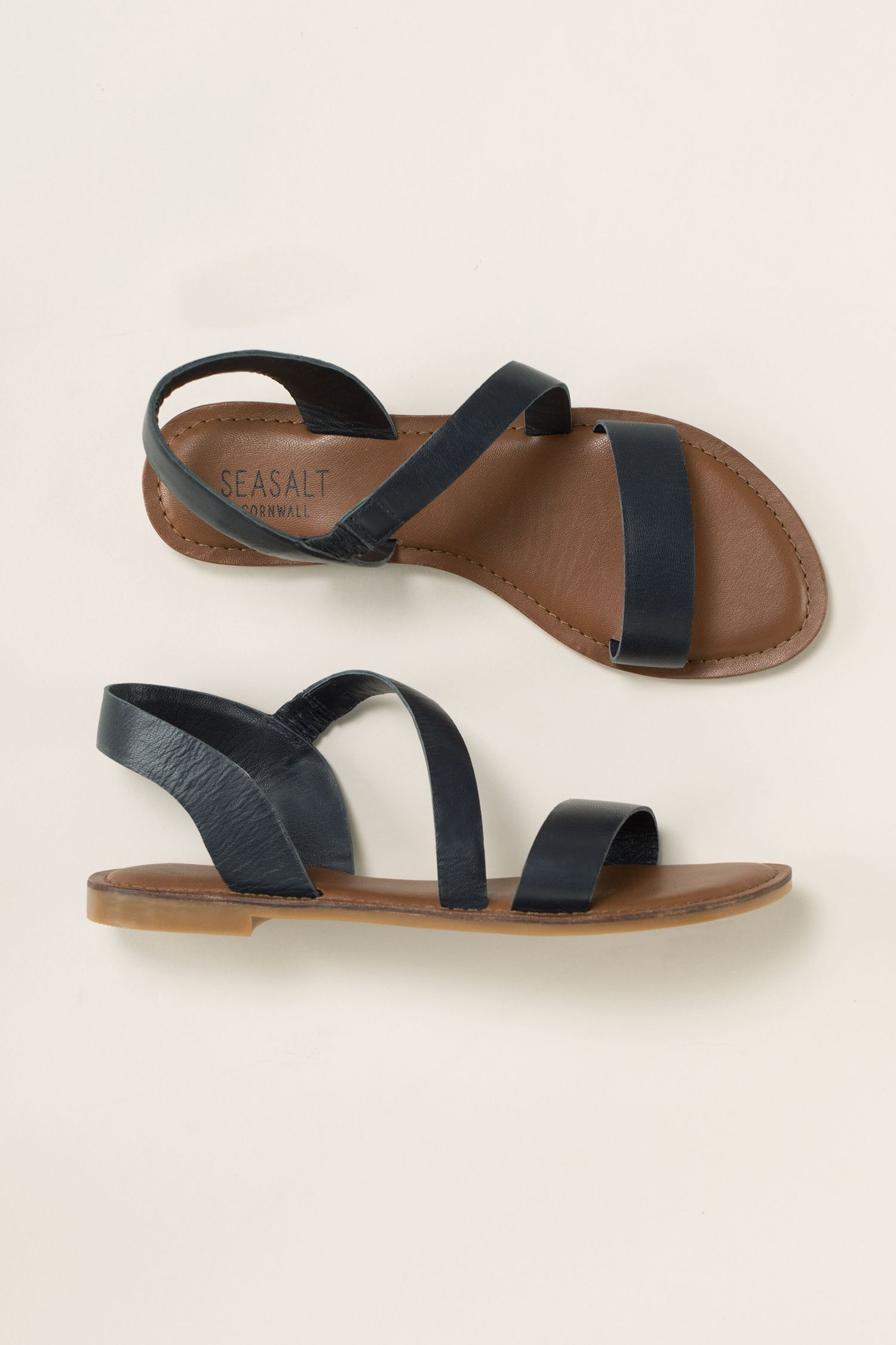 A lovely flat sandal in beautiful soft leather, Seasalt Sunny Cove Sandals  are comfortable to