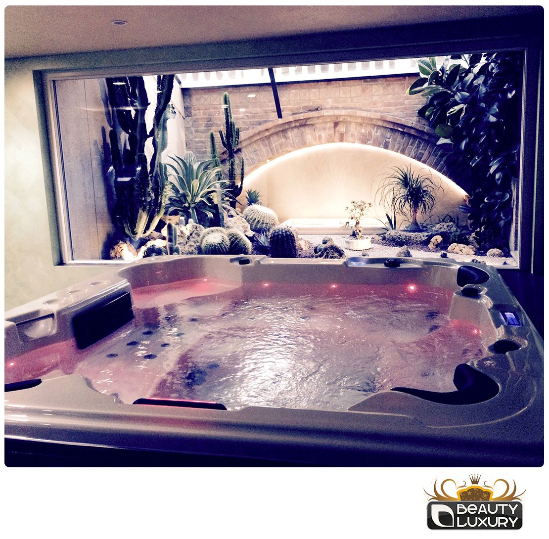 The Beauty Luxury Hottub Can Be Installed Anywhere Even Inside Your Own Home Http Www Beauty Luxury Com En Hot Spa Hot Tubs Luxury Hot Tubs Pretty House