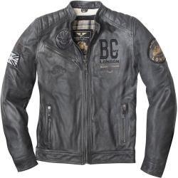 Black-Cafe London Rocka Motorrad Lederjacke Schwarz 54fc-moto.de #leatherjacketoutfit