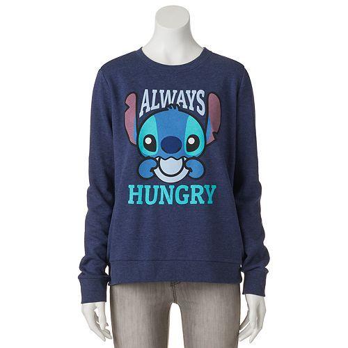 "Disney's Juniors' Lilo & Stitch ""Always Hungry"" Graphic Sweatshirt"