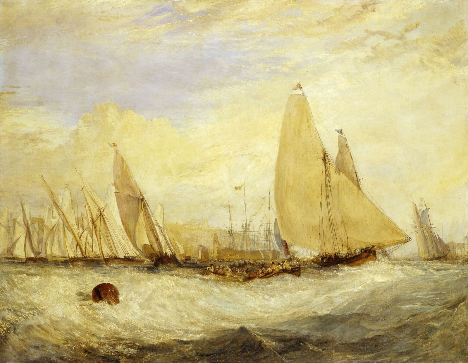 East Cowes Castle, the Seat of J. Nash, Esq., the Regatta Beating to Windward by Joseph Mallord William Turner