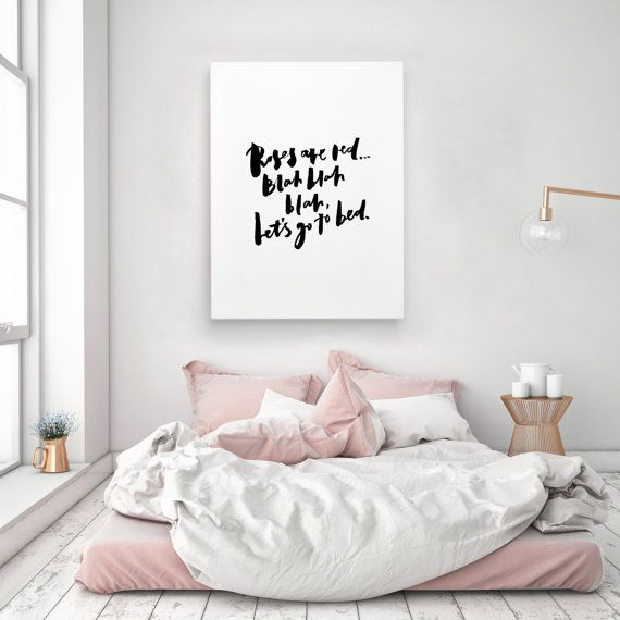 Funny Bedroom Quotes Bedroom Colors For Man Two Bedroom Apartment Design Lime Green Bedrooms For Girls: Roses Are Red Let's Go To Bed Funny Handlettered