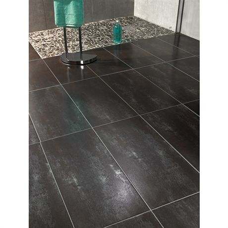 Carrelage sol et mur int rieur metallica silver bathroom for Carrelage rectangulaire