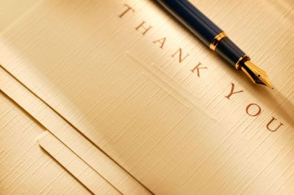 Thank You Quote Samples For Job Applications And Interviews  Note