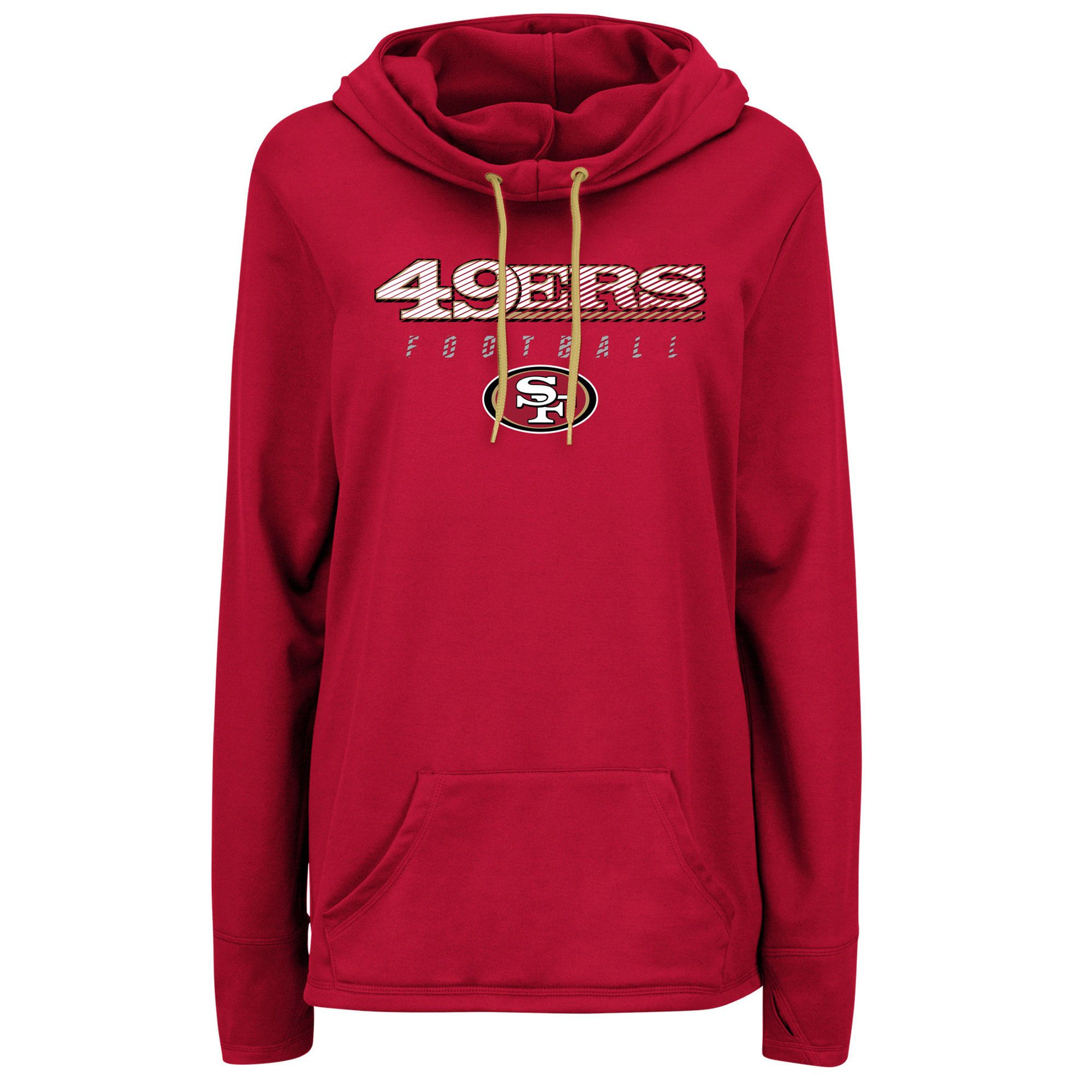 db8f26ae Majestic San Francisco 49ers Women's Scarlet Speed Fly Pullover ...