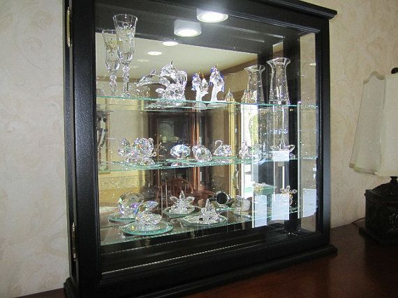 Lighted Wall Curio Cabinet By Billscustomwoodworks On Etsy 269 95 Curio Cabinet Wall Curio Cabinet Wall Hanging Curio