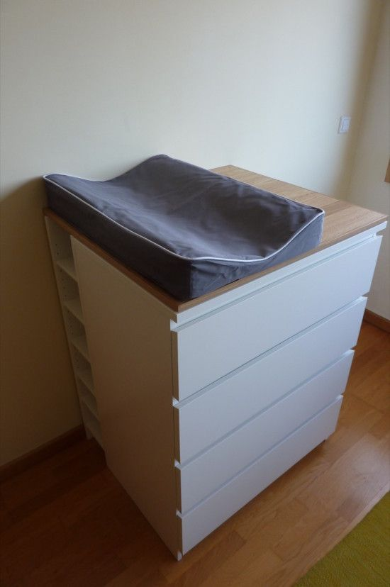 Baby Changing Table with lots of storage: DIY | IKEA Hacks ...