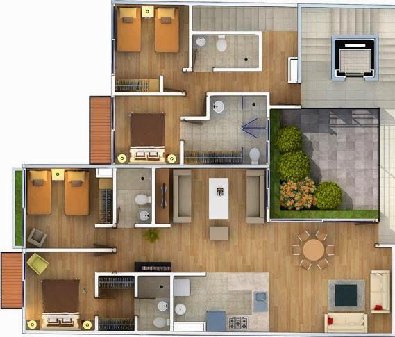 Resultado de imagen para planos casas modernas jfjr for Distribucion de casas modernas