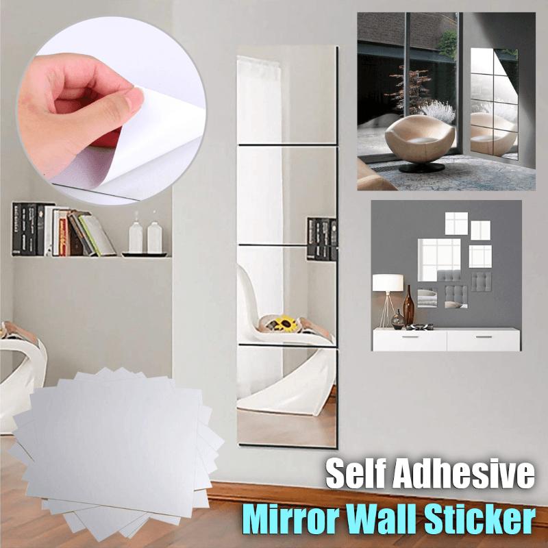 Diy Self Adhesive Mirror Wall Sticker Lenmontrees In 2020
