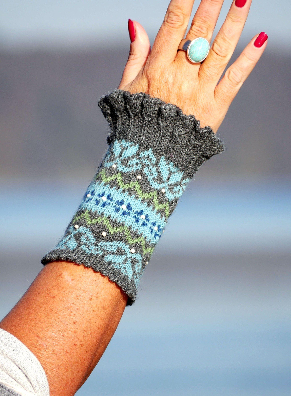 Photo of Pulswärmer MUHU puls varmere varmare polsverwarmer trend herbst winter moder fair isle Stulpen Handstulpen cuff mitaines main tricotées