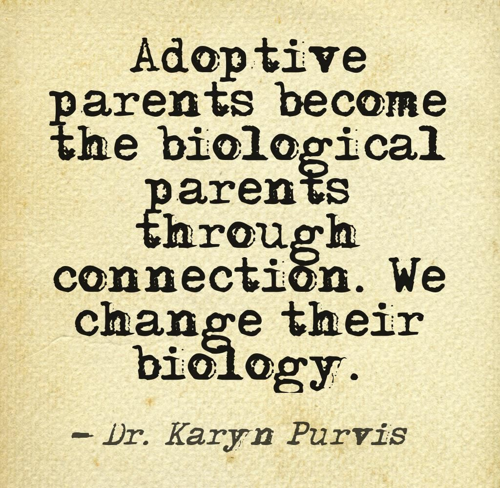 Adoptive parents the biological parents through