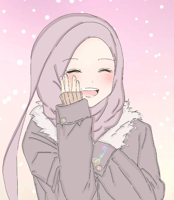 Pin oleh A KA di Anime muslimah Ilustrasi karakter