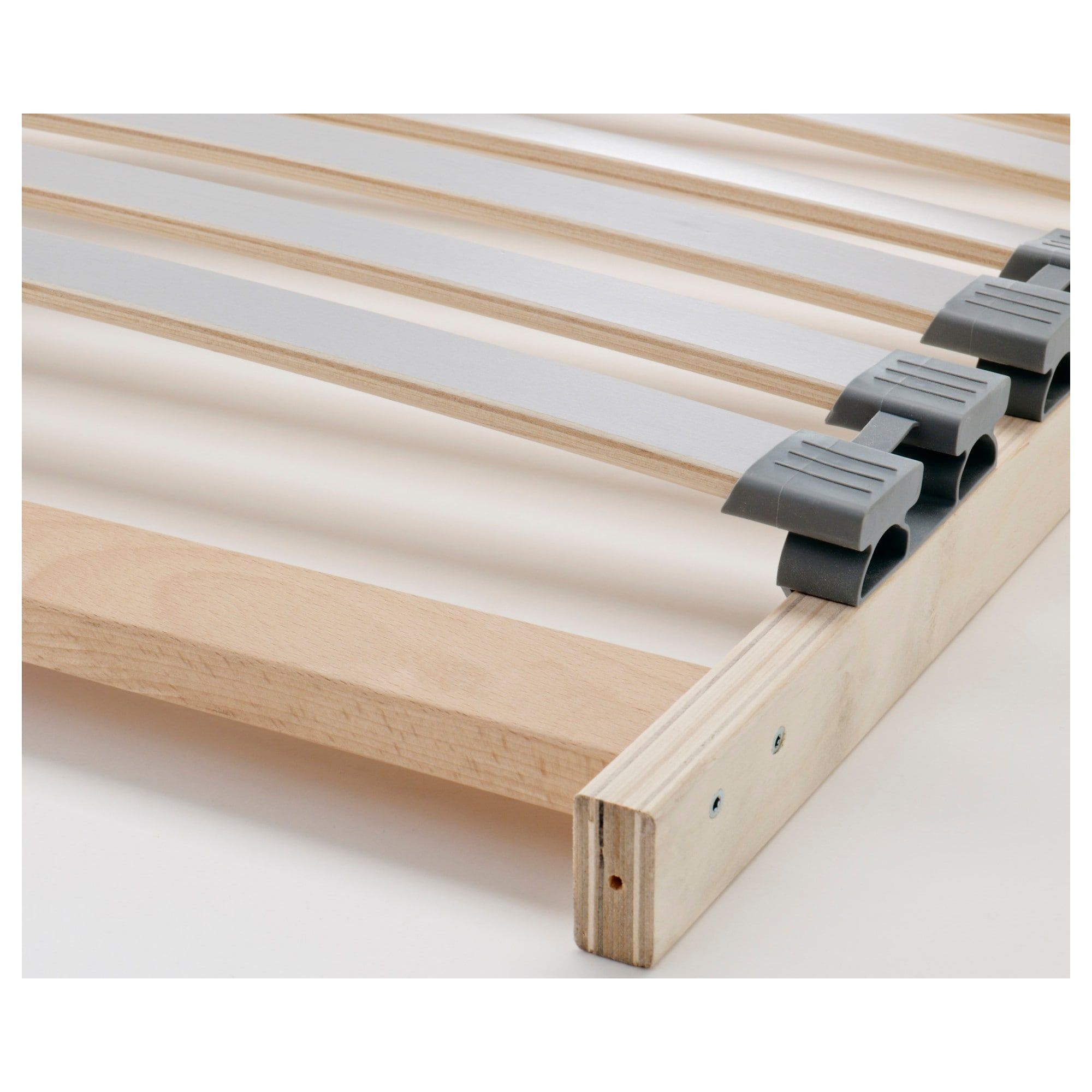IKEA SONGESAND White, Lönset Bed frame with 2 storage